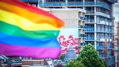 2017.07.02 Rainbow and US Flags Flying Washington, DC USA 6850