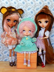 A happy birthday for special girls ♥ (Pliash) Tags: dal doll custom madeleine dolls madeleinedolls madeleinedollies dollies pinocchio pullip kit mio mocha