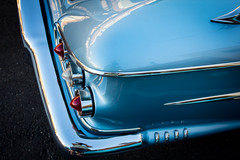 1958 Impala (Photos By Clark) Tags: california canon1740 canon60d cities lamesa lamesahotrods locale location northamerica places unitedstates where auto classic restored blue tail fins american