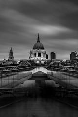A moody St Pauls Cathedral (Glenn 07) Tags: london stpaulscathedral blackandwhite long exposure 10stopfilter