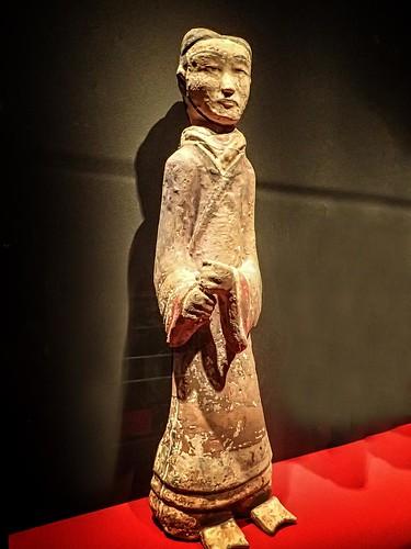 Soldier figurine from the tomb of the King of Chu Baidong Mountain Xuzhou, Jiangsu, China Western Han period 2nd century BCE Earthenware (5)