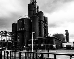 Abandoned industry (frankdorgathen) Tags: ugly abandoned outdoor nordrheinwestfalen ruhrgebiet stoppenberg essen zollverein zeche daylight sunset blackandwhite monochrome industriekultur industry