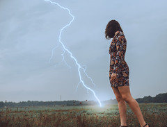 (lauren zaknoun) Tags: surreal surrealphotography conceptual conceptualphotography lightning nature girl portrait witch selfportrait contemporaryart compositeimage photomanipulation photography 100photos dark darkphotography darkart field sky clouds rain thunderstorm newengland blue green