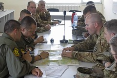 Saber Guardian 2017 (U.S. Army Europe) Tags: 10thcombataviationbrigade 10thcab bulgarianairforce interoperability planning briefing csar combatsearchandrescue saberguardian saberguardian17 bulgaria plovdiv bg