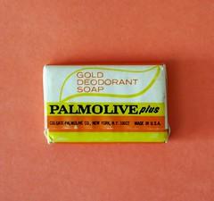 Vintage PALMOLIVE Plus Gold Deodorant Travel Soap - early 1970s (hmdavid) Tags: vintage travel soap guest palmolive plus gold deodorant 1970s palmoliveplus