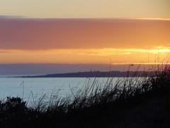 Robben Island across the bay (rjmiller1807) Tags: 2017 robbenisland tablebay capetown blouberg bloubergstrand blaauwberg blaauwbergstrand southafrica westbeach sunset grass silhouette clouds island distance june
