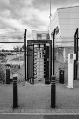 (Mark Greening) Tags: bristol buidling filton turnstile royalmailsortingoffice fence england unitedkingdom gb