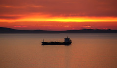 St Brides Ship (Andy.Gocher) Tags: andygocher canon100d sigma18250 europe uk wales westwales southwales stbridesbay pembrokeshire coastalpath sunset sky sun clouds cloudscape