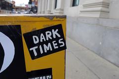 Tiempos oscuros (Daquella manera) Tags: chicago il illinois sticker stickers street art arte callejero dark times