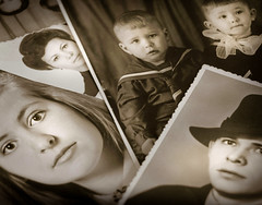 Retro (svklimkin) Tags: photo retro collage relatives family album memory face svkllimin portrait people