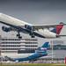 Delta A330-300 leaving Amsterdam for Minneapolis