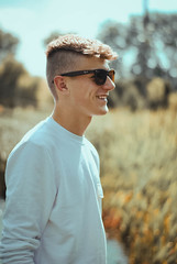 (DorotaPh) Tags: male portrait polish poland photography blonde boy smile summer sun 50mm nikon natural light
