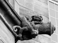 Bad Blood (SK51) Tags: art bw bamburghcastle blackandwhite canon40d castle england europe gargoyles lightroom northumberland structures uk