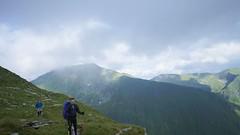 Vârfurile Viștea și Moldoveanu, într-un moment fără nori
