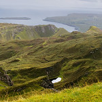 Panorama: Quiraing walk, looking down to Staffin thumbnail