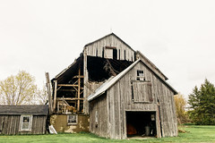 Fading Away (gabi-h) Tags: barn rural rustic farm grey princeedwardcounty ontario gabih architecture dilapidated memories needsrepair