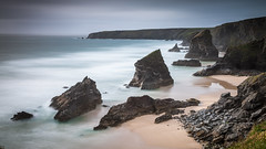 Bedruthan Steps (scott.hammond34) Tags: landscape seascape storm longexposure bedruthan steps cornwall seastacks cloud waves rock coastal rugged cliffs atlantic sky beach sand canon 1dsmark3 eos outdoor vista