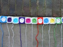 A detail of row 25 (crochetbug13) Tags: crochet crocheted crocheting crochetsquares crochetcircles crochetmotif crochetblanket crochetafghan crochetthrow crochethilbertcurve hilbertcurve