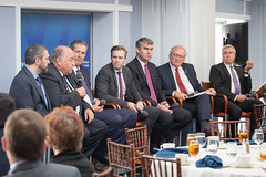 Canada's Premiers/les premiers ministres des provinces et territoires participate/participent in a panel event/à un panel at the Wilson Center Canada Institute/au Canada Institute du Wilson Center.