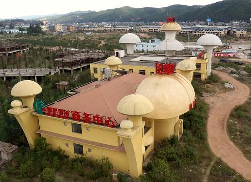 La résidence hôtelière vue de haut