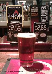 June 14th, 2017 Brickworks Bitter (karenblakeman) Tags: caversham uk baroncadogan beer ale brickworksbitter binghams 2017pad