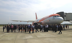 20170614_112803 (Roger Brown (General)) Tags: a320 neo new engine option is easyjets latest purchase their fleet 300th airbus purchased by easyjet has leap 1a leading edge aviation propulsion engines fitted collected from delivery centre toulouse flown via orly back luton 14th july 2017 orange roger brown canon sx610 hs