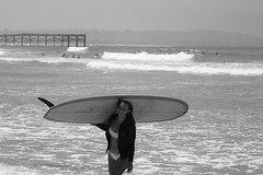 IMG_9679 (palbritton) Tags: surfergirl surfer surf surfing ocean sea beach blackandwhite