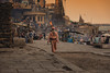The Pilgrims' Way (Andrew G Robertson) Tags: varanasi india benares ganges pilgrim holy streetphotography street candid river ghat cremation burial funeral hindu sadhu baba walk stroll canon5dmkiv mk4 mkiv canon 5d sunrise sunset sun