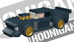 Hoonicorn (KEEP_ON_BRICKING) Tags: lego ford hoonicorn gymkhama car drift ken block 43 mustang custom speed champions reverse engineering