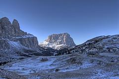 In shadow of Dolomites (Twilight Tea) Tags: january 2017 italy kolfuschg colfosco altabadia corvara dolomites dolomiti southtyrol südtirol sassolungo langkofel passogardena