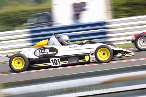 Andrew Blair in the Formula Ford FF1600 championship at Kirkistown, June 2017