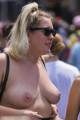 DUN_7830r (crobart) Tags: toronto pride dyke march pretty girls boobs tits breasts heavy hangers nude naked nipples
