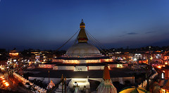 Baudhanath Panorama (ashishkoirala) Tags: bouddhanath kathmandu kathmanduvalley worldheritagesite buddhism domb nepal