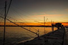 Rosso di sera bel tempo si spera! (paolotrapella) Tags: rosso sunset tramonto italia mare trabucchi