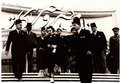 HRH Princess Fawzia visits Bank Misr Companies Exhibition - Cairo in 1951 (Tulipe Noire) Tags: africa middleeast egypt egyptian cairo princess fawzia bank misr exhibition 1951 1950s