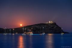 In the wake of poseidon (George Karydis) Tags: moon sea ancient greece summer june temple poseidon night sky sailing colors