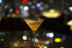 Pineapple and lemongrass martini (kenny_L) Tags: martini skybar bokeh sigma orgo singapore sony 30mm f14 dc dn a6000 pineapple lemongrass glass