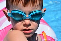 Summer Fun (Hi-Fi Fotos) Tags: summer swim fun pool water goggles kid boy kody child wet aqua turquoise nikkor 50mm nikon d7200 dx hififotos hallewell sun heat july candid portrait