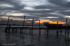| SILHOUETTE at PADMA RIVER | (iam_aanwar) Tags: silhouette river water evening red yellow orange sky nature