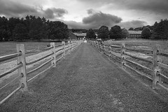 Stormy day at the farm (WilliamND4) Tags: hff fencefriday nikon d810 blackandwhite blackwhite monochrome landscape farm fence clouds stormy vermont