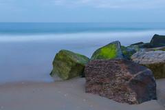 Darkness Approaches (joscelyn_p) Tags: oceancitymaryland oceancity ocmd oc mc maryland longexposure longexpo ocean water smooth rocks evening blue green canon lightroom beach