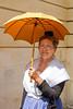 Arlésienne à l'ombrelle (Xtian du Gard) Tags: arlésienne folklore nîmes féria woman ombrelle umbrella portrait ocre mireille xtiandugard