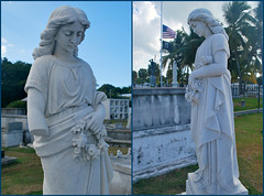 Key West (Florida) Trip 2016 0299-0301 (edgarandron - Busy!) Tags: florida keys floridakeys keywest keywestcemetery cemetery cemeteries grave tomb graves tombs statue statues
