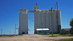 Charleston, Kansas Grain Elevators. (Wheatking2011) Tags: charleston kansas grain elevators owned by garden city coop