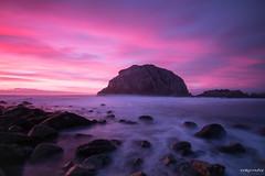 Atarceder el violeta (rockdrigomunoz) Tags: mar atardecer playa rocas canelo largaexposicion