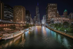 From Columbus bridge (karinavera) Tags: travel sonya7r2 chicago view cityscape building architecture city voightlander12mm night street exposure columbus