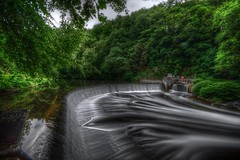 Wupper Wehr (mmbottrop) Tags: pentax hdr k3 long exposure wupper flow wild river nd 3 forest rapids weir tree trees water protection area waterfall