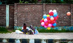 | HAPPINESS SELLERS | (iam_aanwar) Tags: balloon street dhaka colors color poor happiness seller
