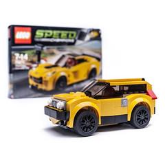 75870 alt SUV (KEEP_ON_BRICKING) Tags: lego speed champions 75870 chevrolet corvette set mod moc suv 4x4 city car vehicle yellow minifigure scale keeponbricking