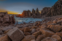 The Photographer DSC_3716- (BlueberryAsh) Tags: thepinnacles phillipisland boulders rocks oceanseascape waves longexposure sunset photographer capewoolamai cloudsstormssunsetssunrises water coast australiancoast nikond750 nikon24120